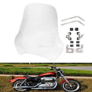 7-8-039-039-amp-1-039-039-moto-Deflecteurs-pare-brise-Grand-Deflecteurs-Windscreen-Pour-Harley