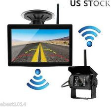 "Wireless IR Night Vision Bus Truck RV Rear View Backup Camera System+ 5"" Monitor"
