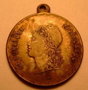 Médaille Marianne, revers vigne et céréales, diamètre 2,4cm, 2grs
