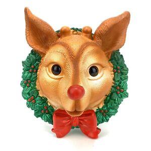 Christmas-Reindeer-Musical-Door-Chime-Lights-Up-Original-Package-Rudolph-Decor