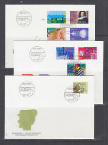 Switzerland-Mi-1516-1535-1994-issues-9-complete-sets-on-9-official-FDCs