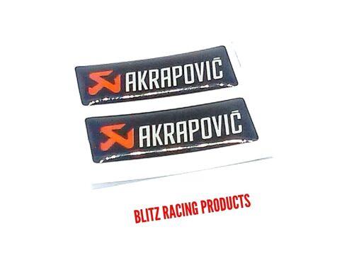 2 X AKRAPOVIC 3D MINI Sticker Decal Motorcycle