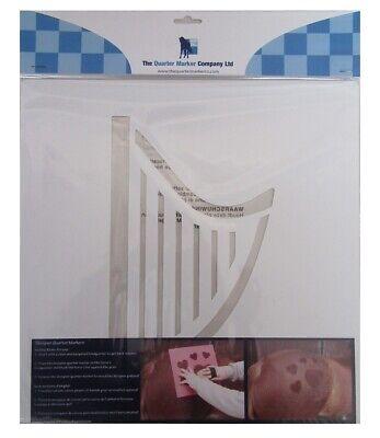 THE QUARTER MARKER COMPANY Harp Designer Horse Grooming Stencil NEW