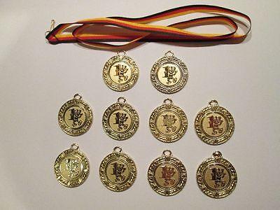 12x  MEDAILLE Medaillen KINDERGEBURTSTAG Deutschland Farben Mitgebsel GiveAway
