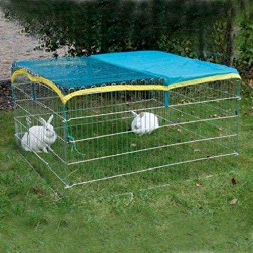 vendite dirette della fabbrica Recinto Rettangolare + telo per coniglio cuccioli roditori zincato zincato zincato 115x115x65 cm  punto vendita