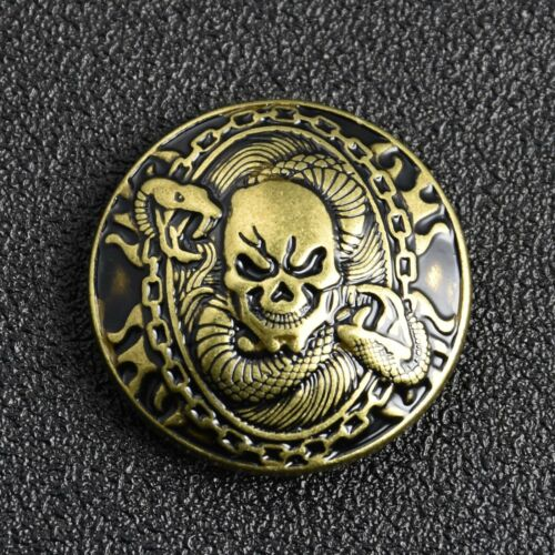 "1-3//16/"" Skull Snake Concho Screw Back Punk Rivet Stud Leather Carft Decor 30mm"