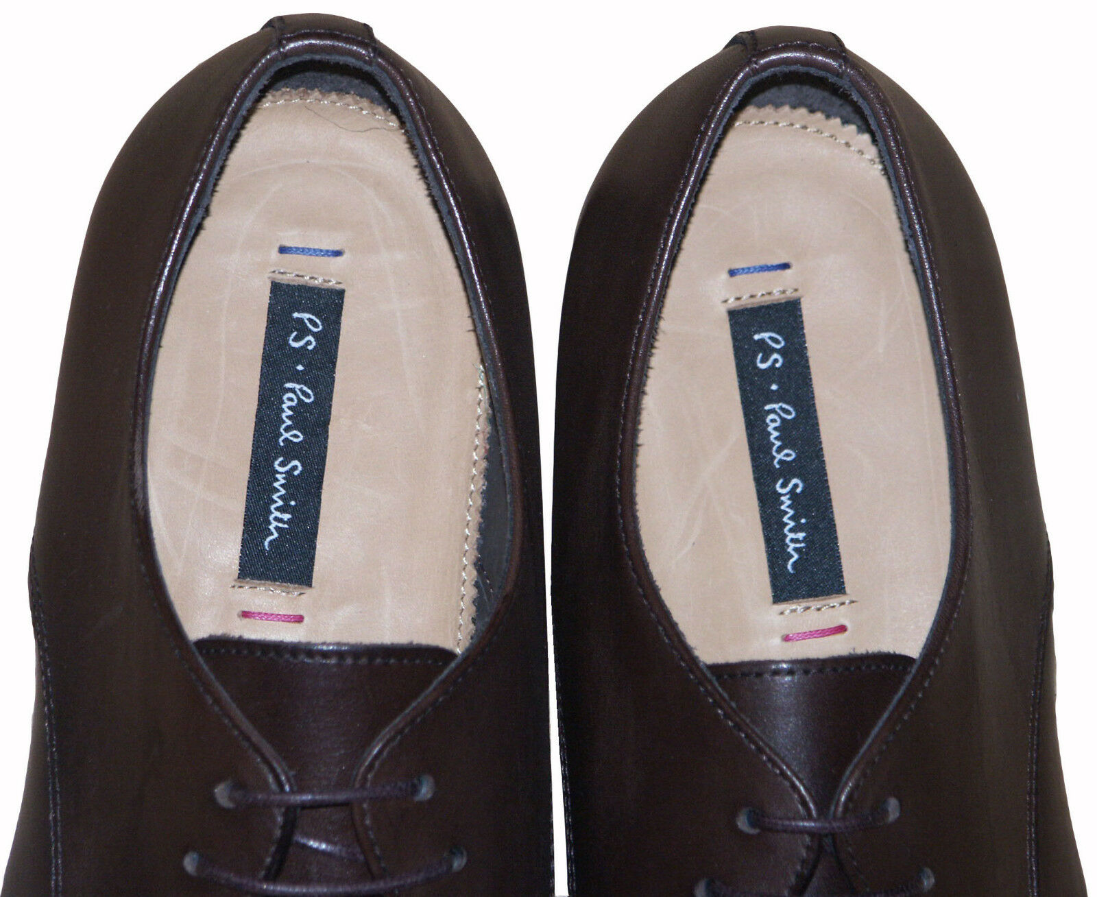 PAUL SMITH LEATHER LEATHER LEATHER MAINLINE FORMAL braun schuhe NEW RARE SZ  UK7   EU 41   US8 3ae1ee