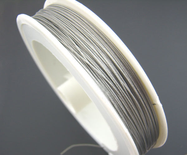1 Roll 70M Silver Tone Beading Wire 0.35MM