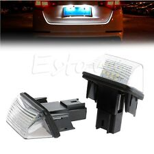 2PCS 18 LED Number License Plate Light For Peugeot 206 207 306 307 406 407 new
