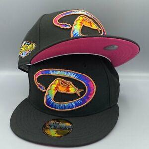 Arizona Diamondbacks 2011 ASG New Era Black Fitted Hat Deep Pink Bottom