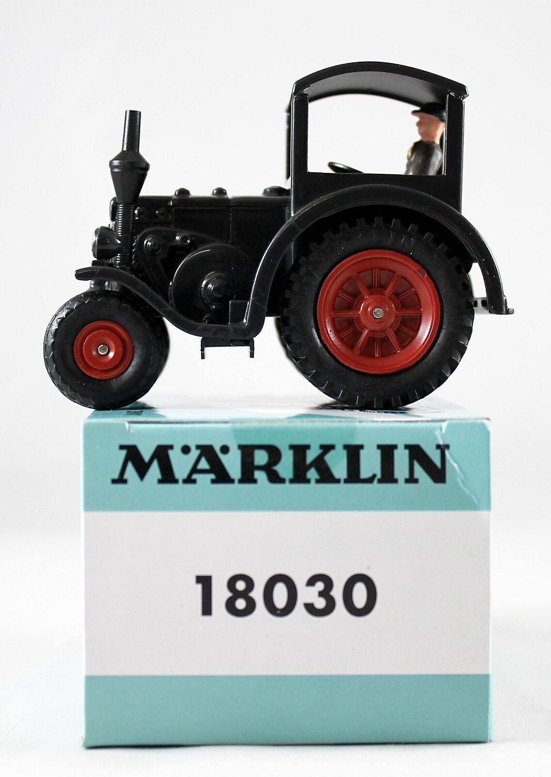 Märklin Lanz Eilbulldog (18030) repainted in the Colour Black  NEW  with Original Box