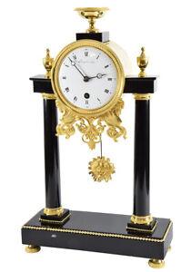 PORTIQUE-DUVOY-Kaminuhr-clock-bronze-horloge-antique-uhren-cartel-pendule