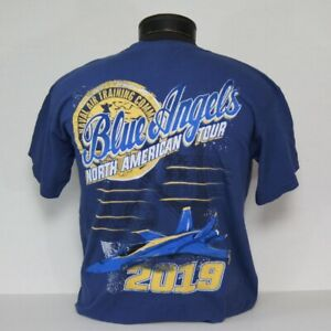 CLOSEOUT!! US Navy Blue Angels 2019 North American Tour T-Shirt in 2 colors!!