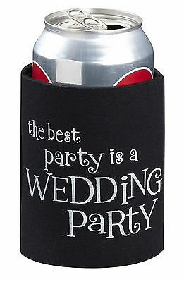 New Wedding Stubby Holder Cozy Cooler Bridal Party Bomboniere Favour Gift