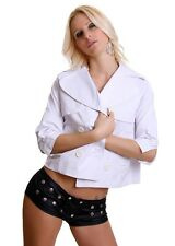 Women's Chic Elegant Blazer Jacket Coat UK Size 10-12 White