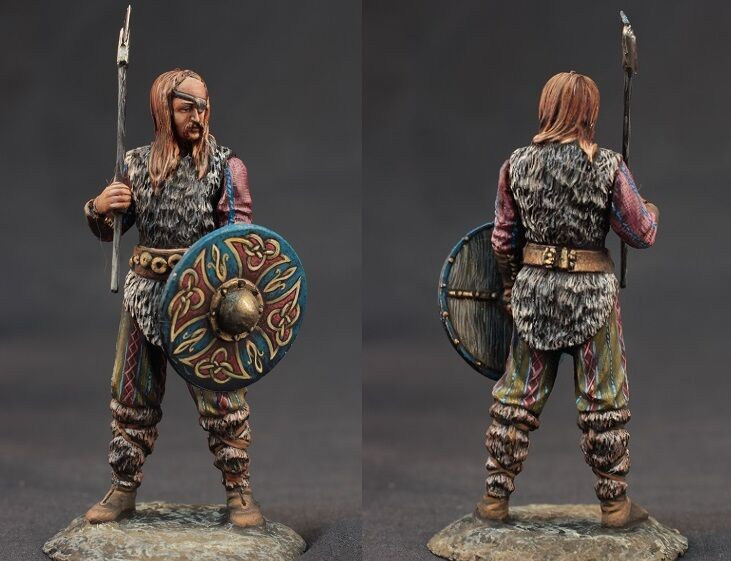 Tin toy soldiers ELITE painted 54 mm One-Eyed Celtic Warrior with War Axe