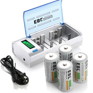 4x-C-Size-Rechargeable-Batteries-and-LCD-AA-AAA-C-D-9V-NIMH-NICD-Battery-Charger