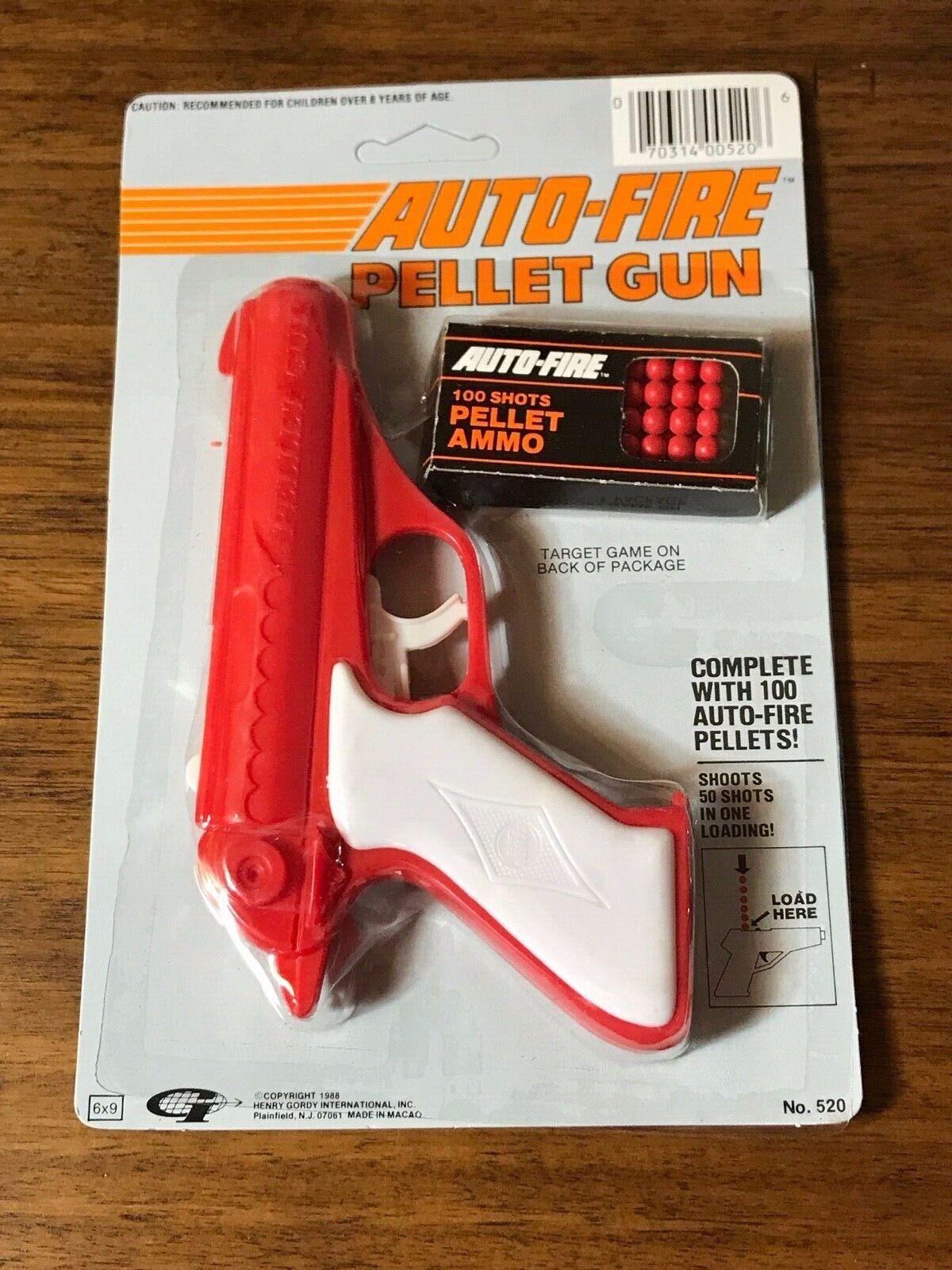 Clásico Auto-Fire pellet arma  sellada en paquete de 1988  raras coleccionables