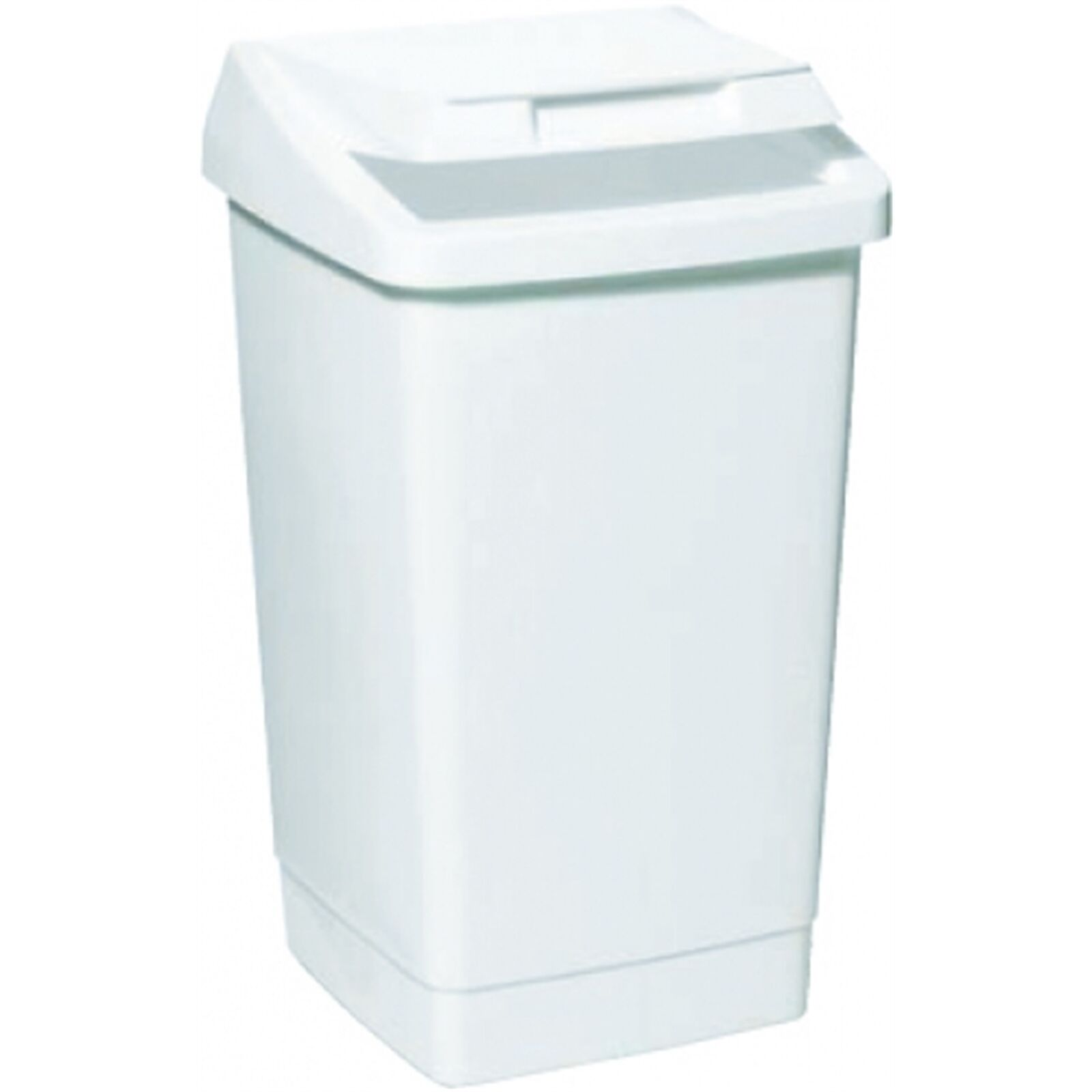 Icon Plastics LIFT TOP TIDY BIN 27L Wide Opening, Weiß, Convenient Aust Made