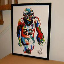 C J Anderson, Denver Broncos, Running Back, Football Sports 8.5x11 PRINT w/COA