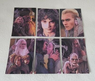 Lord Of The Rings Masterpieces II Complete Walks Etched Foil Chase Card Set 1-6