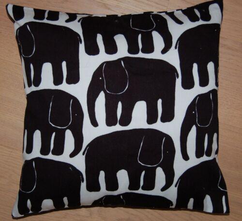 Finlayson de nombreuses tailles Handmade Black éléphant taie d/'oreiller Housse fnland Mignon