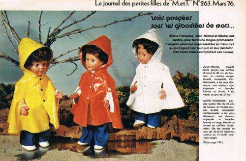▬►Page POUPÉE FRANÇOISE MICHEL  Modes et Travaux MARS 1976