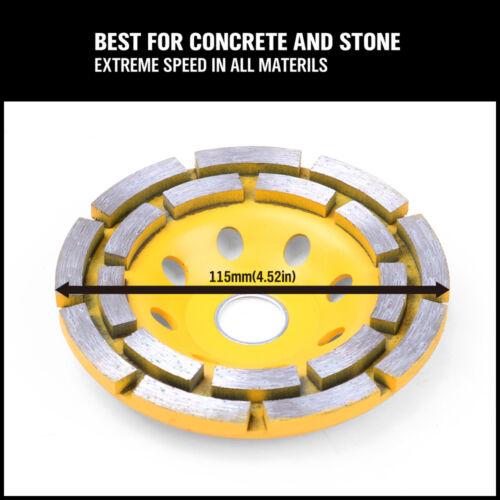 "4-1//2/"" Diamond Cup Grinding Wheels Double Row Concrete 18 seg  Angle Grinder"