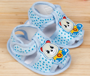 Baby Infant Girl Boy Crib Shoes Blue 0-6 6-12 12-18 Months