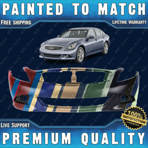 NEW Painted To Match Front Bumper Replacement for 2010-2015 Infiniti G37 G25 Q40