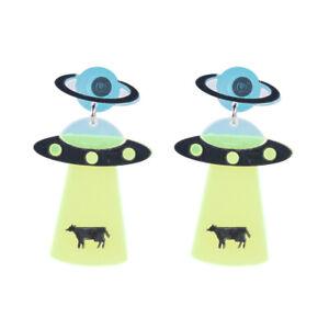 Cute-Women-Boho-Dangle-Drop-Stud-Earring-Acrylic-Resin-Ear-UFO-Earrings-Jewelry