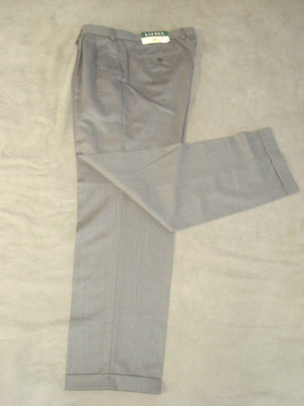 5104e8d25d RALPH LAUREN MEDIUM BROWN PANTS 36 x 32 L WOOL W nnrmok18080 ...