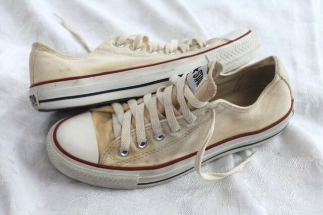 f6c86ec35d27 Converse All Star Size 7 Cream white Canvas lo top Sneakers Shoes