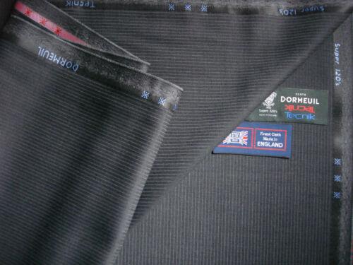 3.4 M hecho en Inglaterra Dormeuil Super 120's Lana satisfaciendo Tela por Dormeuil /'Tecnikas/'