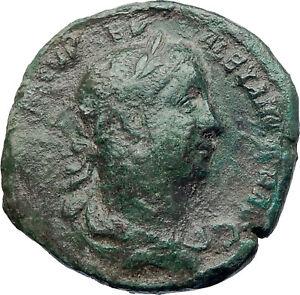 SEVERUS-ALEXANDER-sacrificing-222AD-Sestertius-Big-Ancient-Roman-Coin-i73287