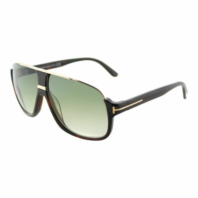 a9ad2394fed6d Tom Ford Eliott TF 335 56K Havana Plastic Sunglasses Green Gradient Lens