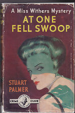 Stuart Palmer, At One Fell Swoop - 1st 1954 in RARE Dustwrapper, Vintage Mystery