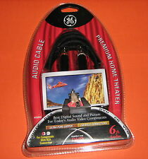 GE Premium Home Theater Audio Cable - 6ft BRAND NEW Model Ht22919