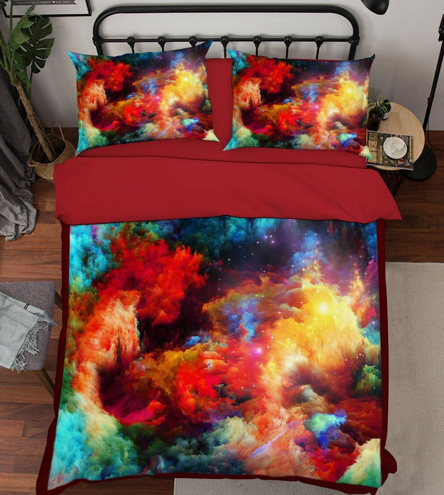3D ColGoldt Clouds 69 Bed Pillowcases Quilt Duvet Cover Set Single King UK Summer