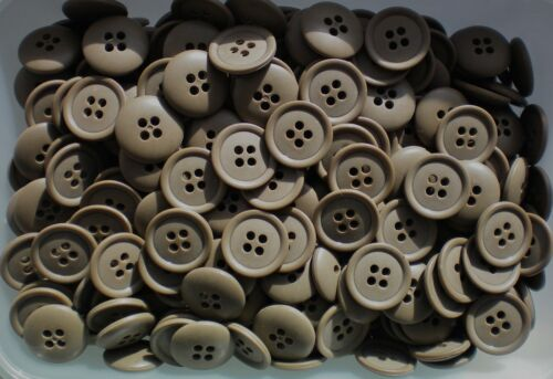 19mm 30L Brown Mid Warm Coffee Toffee 4 Hole Craft Jacket Coat Buttons W642