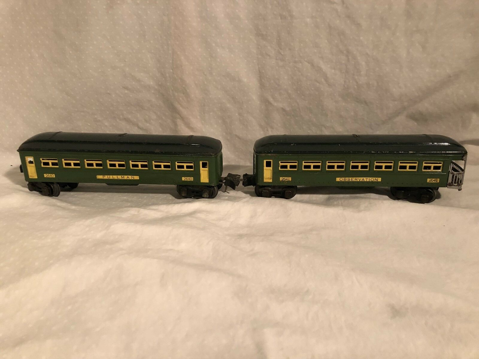 Lionel 2640 and 2641 Pullmman and Observation Cars