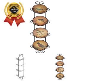 Image is loading Economy-4-Tier-Black-Vertical-Plate-Wall-Rack-  sc 1 st  eBay & Economy 4 Tier Black Vertical Plate Wall Rack Dish Holder Display ...