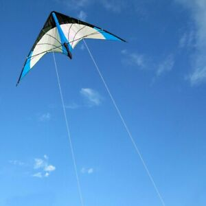 NWE-Outdoor-Fun-Sports-48-Inch-Dual-Line-Stunt-Kites-Blue-Kite-with-handle-line