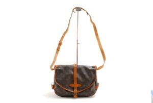 【Rank B】 Auth Louis Vuitton Saumur 30 Monogram Cross Messenger Shoulder Bag A547