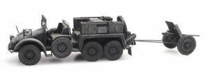 Ho-Roco-Minitanks-7th-Panzer-Armee-Krupp-Protze-3-7cm-A904-387-381-Main-Peint