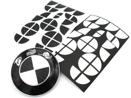 Emblema in carbonio angoli SET NERO BIANCO per BMW M m3 f30 f31 f12 f13 f06 m6 pacchetto