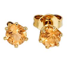 NEU Sommer Ohrstecker 585 echt Gold Edelstein Ohrringe Citrin orange 14 Karat