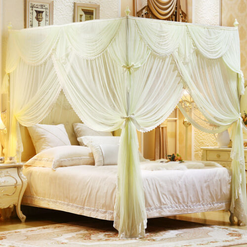 Wedding bed decoration Mosquito net /& frame bed netting Bed curtain canopy Red