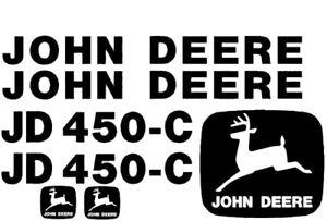 John Deere 450 Crawler Dozer Set JD Decals Stickers Tractor 3M Loader