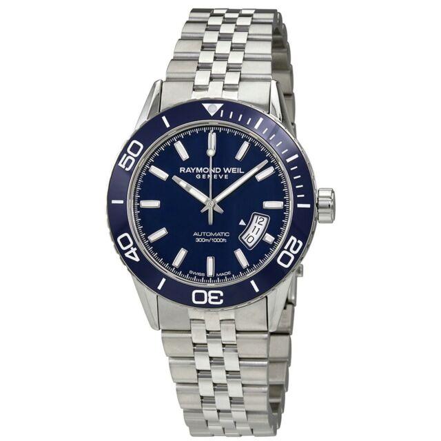 Raymond Weil 2760-ST3-50001 Men's Freelancer  Blue  Automatic  Watch